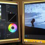 Film editing video screens