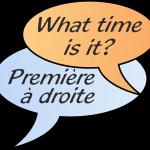 What time is it? Première à droite.